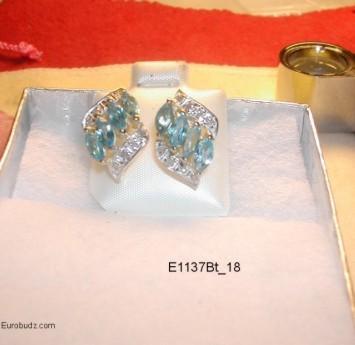 Boucles d'Oreille avec Diamants Noir